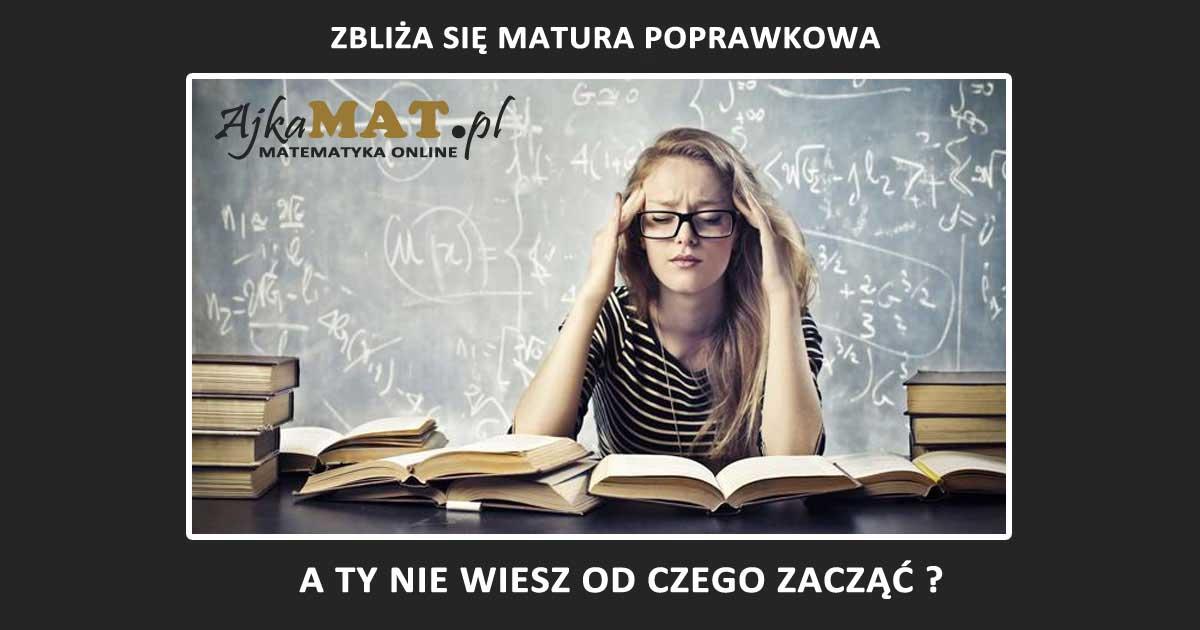 matura poprawkowa z matematyki